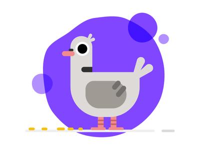 Pigeon What! flying bird feeding derp illustration illosmith character pigeon