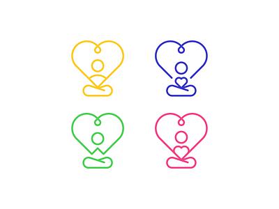 Heart & YOu-GA health heart yoga iconography icon idea concept logo motif