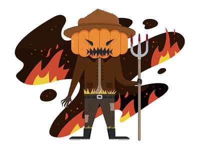 The Pumpkin Master send doods character design illustration halloween scarecrow scary