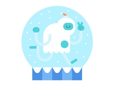 crimbo yeti festive snowglobe snowman yeti crimbo christmas