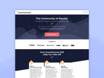 GrowthComet - Website