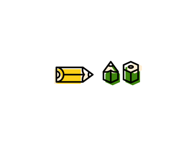Pencil Power scribble doodle simple design pencil logo iconography icon concept branding