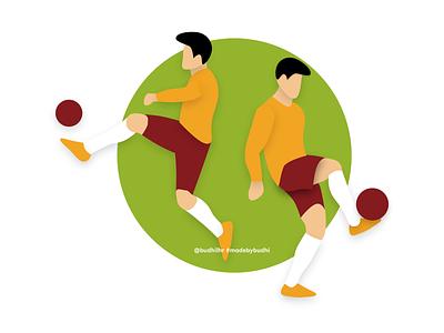 Football Illustration vector football design adobe xd illustration