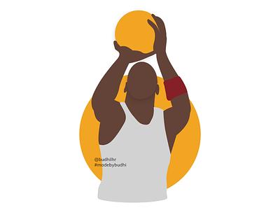 Michael Jordan Illustration illustration design illustrator design adobe xd illustration michael jordan