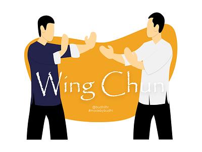 Wing Chun Illustration wing chun illustration design ip man wingchun illustrator vector madebybudhi design adobe xd illustration