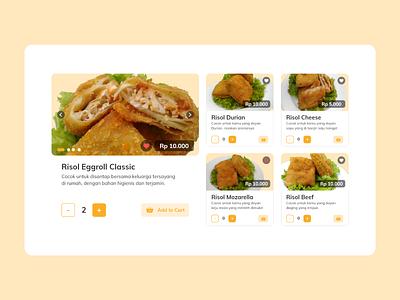 Order Food Landing Page web design ui designer user inteface user experience eggrollakang landing page user interface ux ux design madebybudhi uiux design ui design adobe xd order food food app