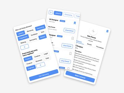 Jobs Finder - Design Jam ID job hiring jobseeker job finder ux design design jam uiux mobile app madebybudhi user interface ui design figma design figma