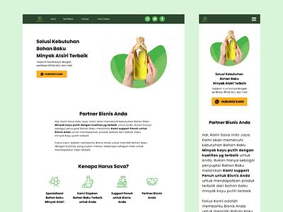 Landing Page - Sava Indo Jaya is Essential Oil Factory muhammad budhiluhoer ui design html css figma madebybudhi landing page