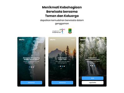 Ulinyu App - Tiket Wisata Online uxdesign wisatakarawang wisata mobile app flutter figma uiux madebybudhi disparbudkarawang bnetkarawang karawang ulinyukarawang ulinyu