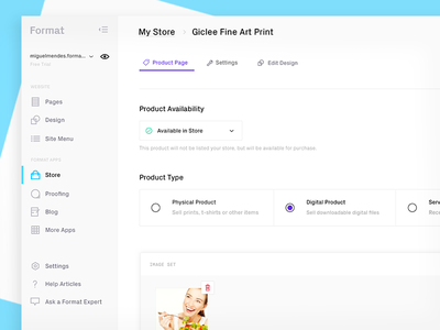 A new Format.com (Store) ecommerce store web redesign format
