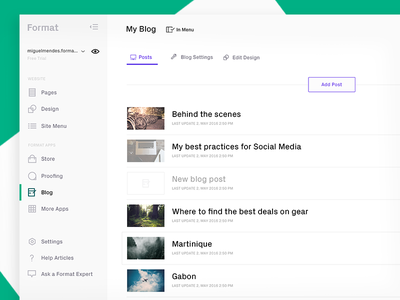 A new Format.com (Blog) blog web redesign format