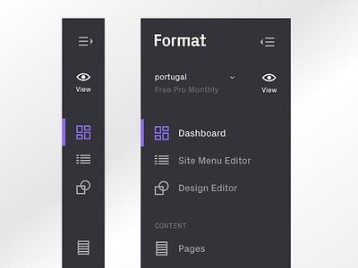 Format Dark Scheme scheme dark scheme skin dark skin design ui ux format sidebar