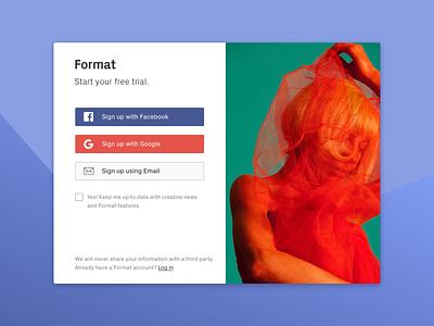 Format Sign up Concept signin signup page signup signupform web ui