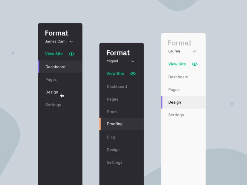 Format App - New Sidebar sidebar menu sidebar sidenav flat menu app format
