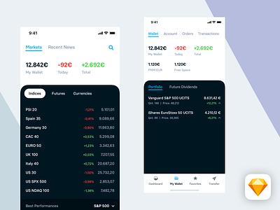 Degiro - Visual Direction markets etf finance ui app ios iphonex degiro
