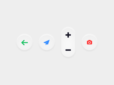 Embossed UI button interface designer user interface ui interface skeuomorphism sketch embossed