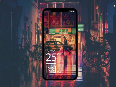 UI Dailly Challenge Day 37 tokyo japan city typography ux app design daily challenge ui