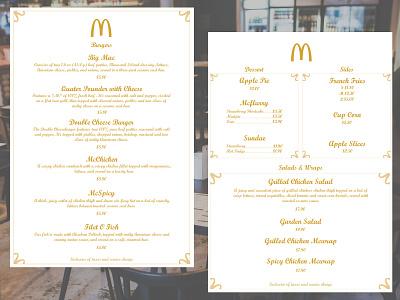Daily UI Challenge Day 49 macdonals food menu ux app design daily challenge ui