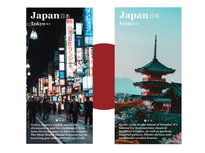 UI Daily Challenge Info Card japanese city tokyo ux app design daily challenge ui