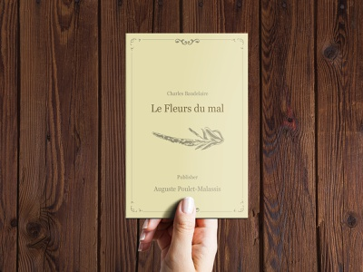 Book Design Cover - Les Fleurs du mal french cover book design
