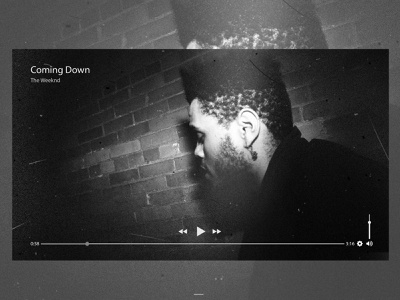UI Daily Challenge Day 57 video videoplayer theweeknd web ux daily challenge ui design