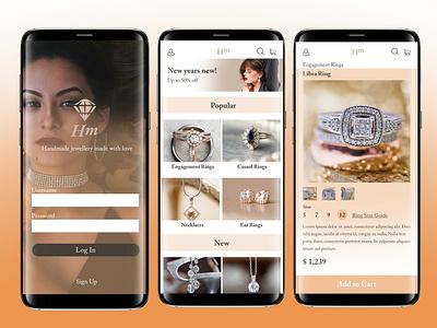 Daily UI Day 59 - Jewellery Store App adobe jewellery app ux daily challenge ui design