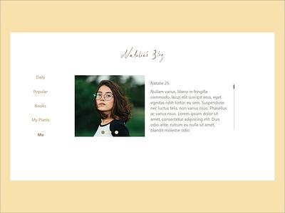 Web Design - Blog blog web ux daily challenge ui design