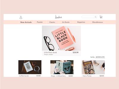 Web Design - Bookstore store book adobe web ux daily ui challenge design