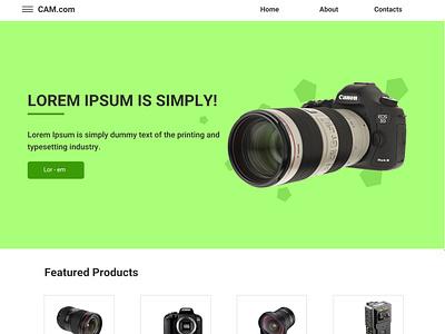 E-Com Website for Camera art illustration photoshop design visual design graphic design