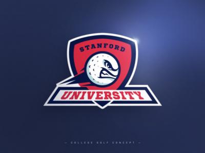 College Golf Team Logo Concept