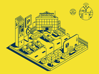 MASTER CARD_City innovation_illustration_iconography