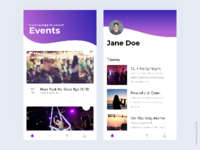 Mobile UI design for Events
