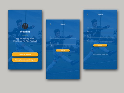 Footsal.id Sign in and Sign up