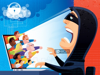 people joining together to fight cyber crime cartoonillustration hacking cybersecurity vectorgraphics vectorart vectorillustration vector artwork vector illustrator illustration graphics graphic design graphicart digitaldrawing design character art character cartoon art adobe illustrator