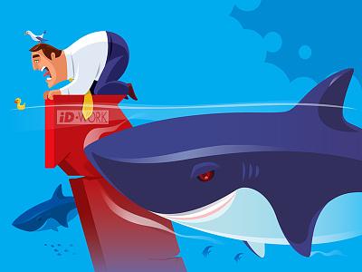 businessman with sharks lost businessman sharks vectorgraphics vectorart vectorillustration vector artwork vector illustrator illustration graphics graphic design graphicart digitaldrawing design character art character cartoon art adobe illustrator