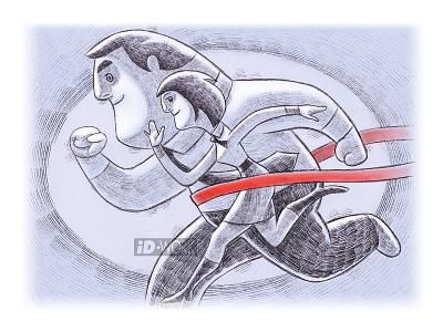 couple racing drawingart digitalart digital illustration sketch drawings competition business racing portrait digital art graphics character cartoon digital painting art illustration painting sketching drawing procreate