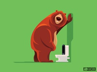 bear with urinary problem