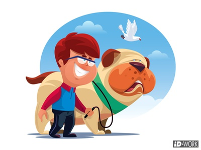 kid and dog boy dog kid vectorgraphics vectorart vectorillustration vector artwork vector illustrator illustration graphics graphic design graphicart digitaldrawing design character art character cartoon art adobe illustrator