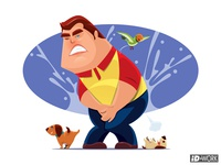 Man with urine urgency problem