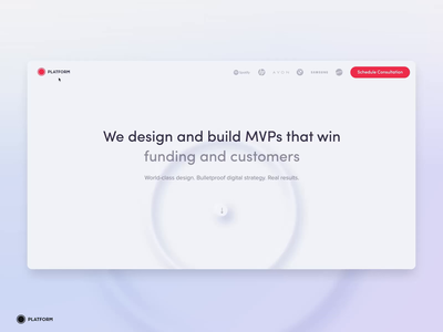 Build you own MVP graphic mvp home page prototype iphone after effect landing page web app animation ux logo ui design neumorphism