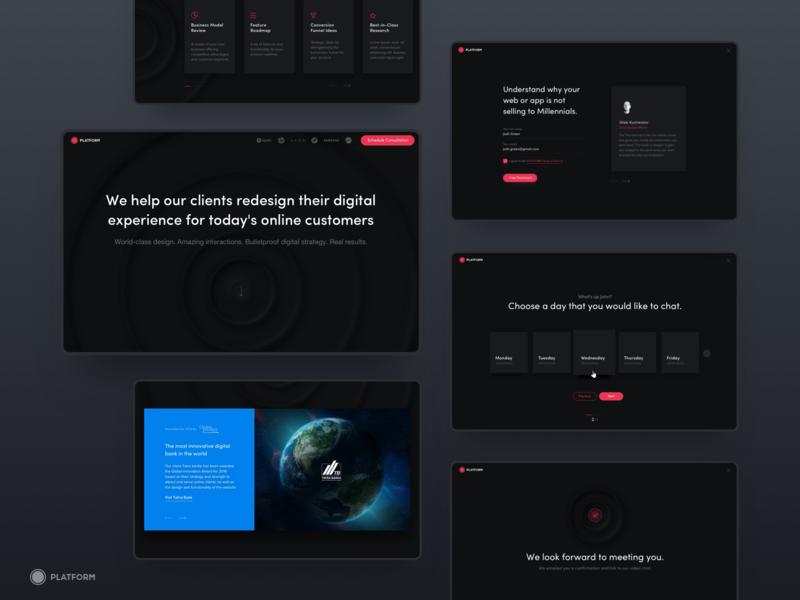 Experience redesign web mvp ux neumorphism graphic landing page logo branding ui design