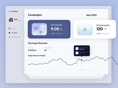 Campaign Management App app design graphs desktop app financial dekstop app dashboard ui campaigns finance web ux animation ui graphic design