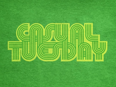 Casual Tuesday letterforms letters calendar apparel wfh coronavirus corona covid-19 work casual logotype typography