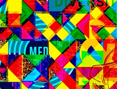 Crazy Color Collage bright colors photoshop overlay rainbow wallpaper pattern vibrant texture background layers collage bright color
