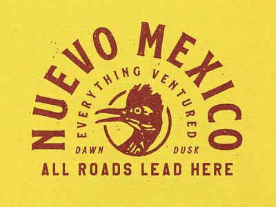 Meep Meep distressed southwest rough dusk dawn badge typography animal tshirts tee tshirt new mexico bird roadrunner