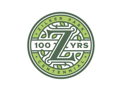 Zilker Park 100 Year Anniversary Logo austin texas nature identity badge z mark logo centennial anniversary park zilker