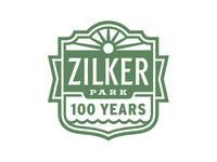 Zilker Park 100 Year Anniversary Logo