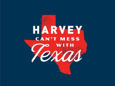 Texas Strong script red typography state disaster strength badge flood texas relief hurricane harvey