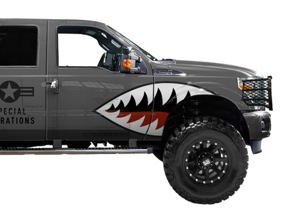 Spec Ops Vehicle Wrap spec ops force air fierce teeth truck military warthog wrap vehicle operations special