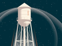 Spaceship Water Tower